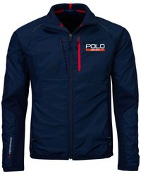Polo Ralph Lauren | Blue Polo Sport Hybrid Tech Jacket for Men | Lyst
