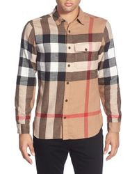 Burberry Brit | Natural Burberry The Britain 'jamie' Trim Fit Flannel Sport Shirt for Men | Lyst