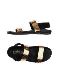 Pedro Garcia | Metallic Sandals | Lyst