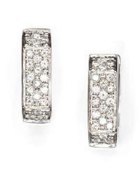 Vendoro - Metallic Diamond Square Huggie Earrings - Lyst