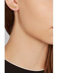 Ileana Makri - Metallic Rombus 18-karat God Diamond Earring - Lyst