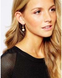 Girls On Film | Metallic Two Pack Embellished Earrings | Lyst