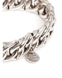 Philippe Audibert | Metallic Gourmette Chain Bracelet | Lyst