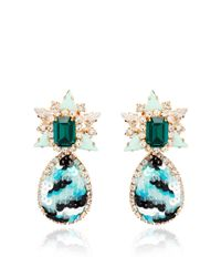 Shourouk | Green Galaxy Sequin Earrings in Mint | Lyst