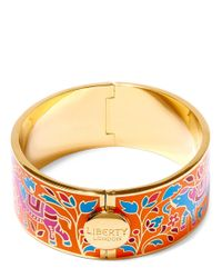 Liberty | Orange Imran Multicolour Thick Cuff | Lyst