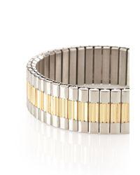 Forever 21 - Metallic Men Two-tone Stretch Bracelet for Men - Lyst