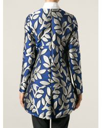 Marni - Blue Floral Embroidered Dress - Lyst