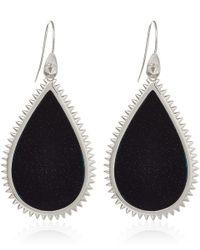Eddie Borgo - Black Sandstone Slice Teardrop Earrings - Lyst