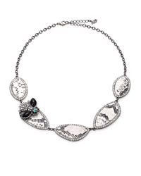 ABS By Allen Schwartz - Metallic Snakeskin-Embossed Pave Disc Necklace for Men - Lyst