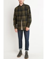 Forever 21 - Gray Tartan Plaid Flannel for Men - Lyst