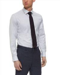 Jaeger - Gray Herringbone Modern Shirt for Men - Lyst