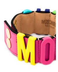 Moschino | Multicolor Logo Letter Bracelet | Lyst