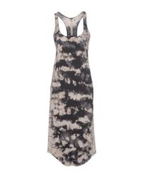 Raquel Allegra - Gray Knee-Length Dress - Lyst