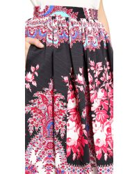 MSGM | Paisley Maxi Skirt - Black | Lyst