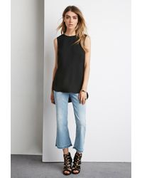 Forever 21 | Black Strap-back Top You've Been Added To The Waitlist | Lyst