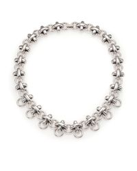 Giles & Brother | Metallic X Knot Chain Necklace | Lyst