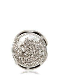 Ann Demeulemeester - Metallic Round Silver Chain Ring - Lyst