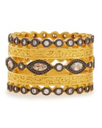 Freida Rothman | Metallic Wide Cz Byzantine Ring | Lyst