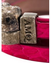 Alexander McQueen | Pink Wrap Around Skull Bracelet | Lyst