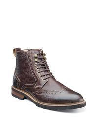 Florsheim | Brown 'kilbourn' Wingtip Boot for Men | Lyst