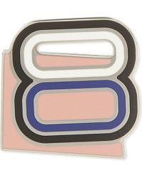 Proenza Schouler | Multicolor Number 8 Enamelled Brass Pin - For Women | Lyst