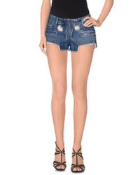 Balmain | Blue Denim Shorts | Lyst