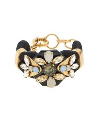 J.Crew | Black Corded Statement Bracelet | Lyst