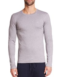 Michael Kors | Gray Long-sleeved Tee for Men | Lyst