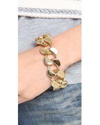 Lee Angel - Metallic Curb Chain Bracelet - Lyst