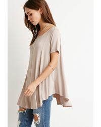 Forever 21 | Natural Classic Trapeze Top | Lyst