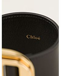 Chloé | Black Buckled Cuff | Lyst