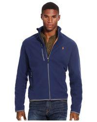 Polo Ralph Lauren | Blue Microfleece Track Jacket for Men | Lyst