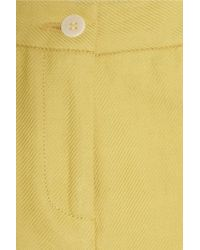 Band of Outsiders - Yellow Linen And Cotton-blend Twill Shorts - Lyst