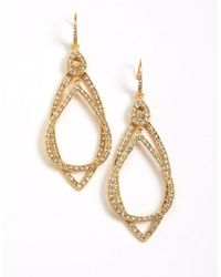ABS By Allen Schwartz | Metallic Pave Orbital Earrings | Lyst