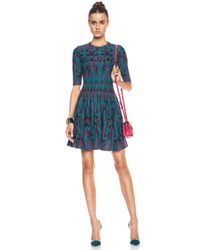 M Missoni - Blue Art Deco Jacquard Wool-blend Dress - Lyst
