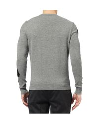 Exemplaire - Gray Patterned Cashmere Sweater for Men - Lyst