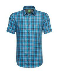 BOSS Green | Blue 'c-bowa' | Regular Fit, Cotton Button Down Shirt for Men | Lyst