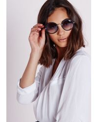 Missguided - Retro Frame Sunglasses Black - Lyst