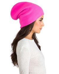 Autumn Cashmere | Ribbed Bag Hat in Pink | Lyst