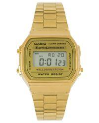 G-Shock | Metallic A168wg-9ef Gold Plated Digital Watch | Lyst