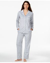 Eileen West | Gray Long-sleeve Shirt And Pajama Pants Set | Lyst