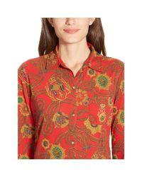 Ralph Lauren - Red Cotton-blend Pajama Set - Lyst