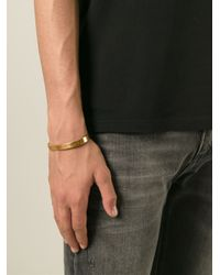 All_blues - Metallic Flat Curved Open Bangle for Men - Lyst