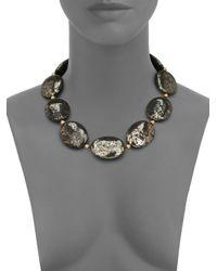 Nest | Metallic Pyrite Statement Strand Necklace | Lyst