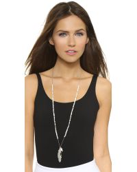 Chan Luu - Metallic Mother Of Pearl, Agate & Sodalite Long Necklace - Lyst