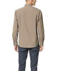 Theory | Natural Zack Ostend Shirt for Men | Lyst