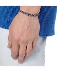 Yuvi - Metallic Silver Mesh and Cord Bracelet for Men - Lyst