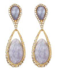 Alexis Bittar | Metallic Dangling Clipon Maldivian Earrings | Lyst