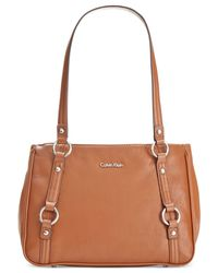 Calvin Klein | Brown Pebble Satchel | Lyst