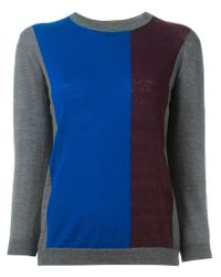 Erika Cavallini Semi Couture - Multicolor Crew Neck Sweater - Lyst
